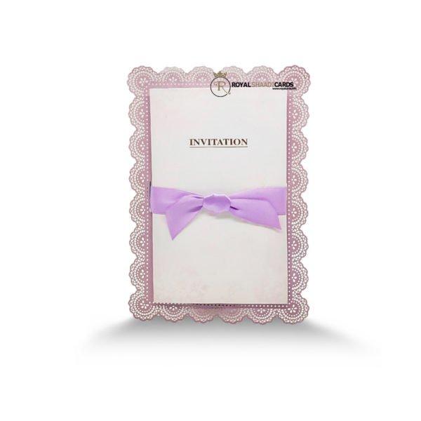 purple ribbon card