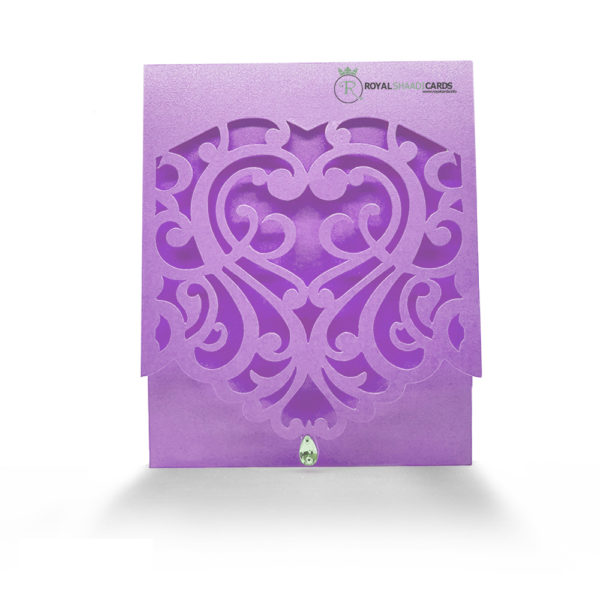 Shaadi Card Purple