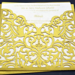 Laser Cut Asian Wedding Cards