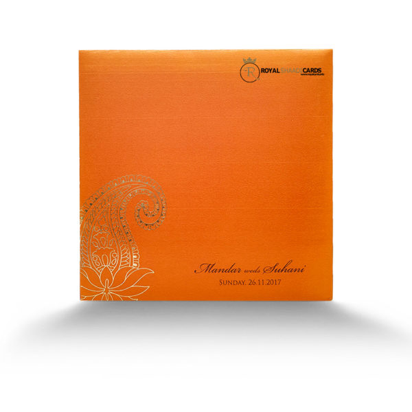 orange wedding card