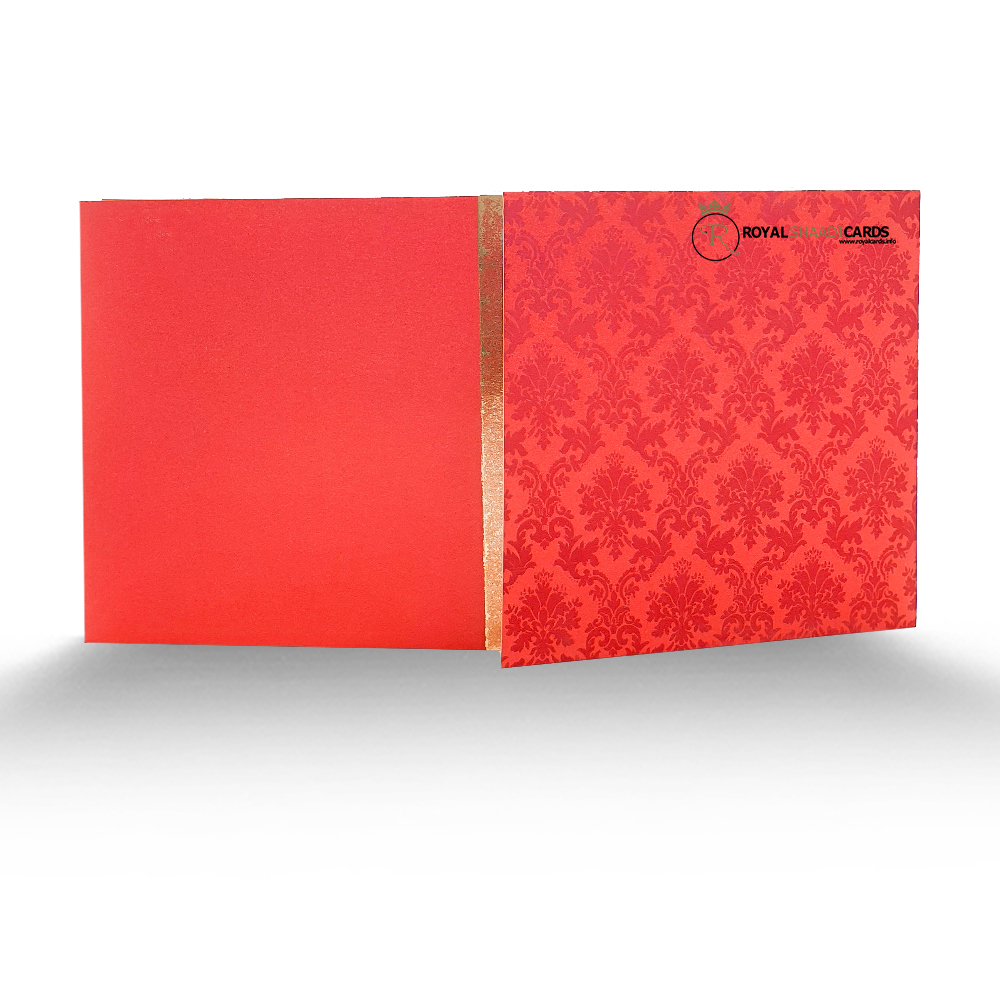 red asian wedding card