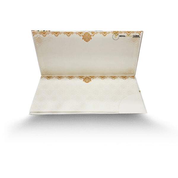 White and Gold Asian Shaadi Card Inside